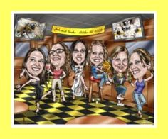 This caricature gift idea for bridesmaids captures the vibe of each bridesmaid.