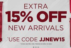 Extra 15% Off New Arrivals Online At Jimmy Jazz!