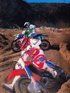 Jeff Ward # Ricky Johnson # motocross # 80's