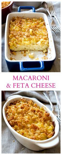 {Macedonia} Everyone's favorite Mac 'N Cheese made BETTER! Everything is betta w… {Macedonia} Everyone's favorite Mac 'N Cheese made BETTER! Everything is betta with Feta! Mac Cheese Recipes, Pasta With Feta Cheese, Pasta Recipes, Macedonian Food, Food Tags, Baked Macaroni, Mediterranean Recipes, Oven Baked, Kitchens