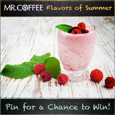 Is Raspberry Green Tea your favorite flavor of frappe? You could win a Mr. Coffee® Café Frappe! Enter our Pinterest contest today -- visit us on http://on.fb.me/1qsda4s to enter. Contest ends 7/25/14. Good luck and don't forget to click the pin to see the recipe! #MrCoffee #Coffee #summer #contest #pintowin
