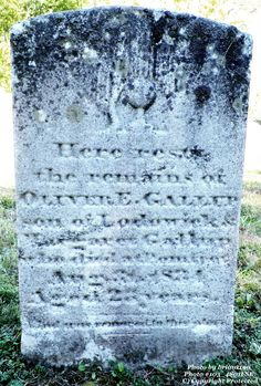 Granite in My Blood: Tombstone Tuesday: Oliver E. GALLUP #genealogy