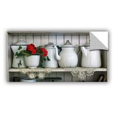 Flower with Pots by David Kyle Art Appeelz Removable Wall Mural