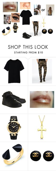 """""""Tough Girl"""" by lauraissweetandawesome on Polyvore featuring Univibe, NIKE, Versace, Allurez, Vita Fede and Chanel"""
