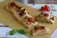 Ricetta delle stecche con pomodorini e olive.