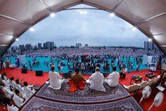 On the #InternationalYogaDay, under the guidance of Shri Baba Ramdev Ji in the presence of National President BJP Shri Amit Shah Ji, Governor of Gujarat Shri OP Kohali Ji , CM Shri Vijay Rupani, Deputy CM Nitinbhai Patel, Shri Rameshbhai Oza Ji, Shri Pradipsinh Jadeja Ji, Mayor Shri Gautam Shah with other dignitaries and exhilatrated Yogis performed #Yoga. Bharat Swabhiman Trust (Official) Patanjali Yogpeeth, Haridwar #YogaDay #Ahmedabad