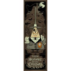 Alternative Movie Poster for The Nightmare Before Christmas by Graham Erwin