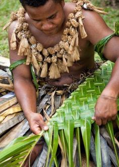 #Fijian Palm Weaving. #Travel #Culture