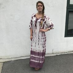 Tie Dye Maxi Kaftan Dress