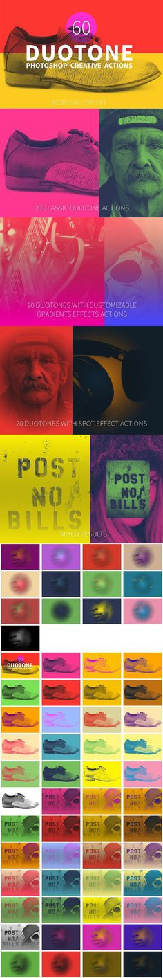 60 Duotone Actions for Photoshop . Actions. $9.00