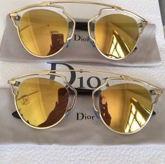 3a6f0d60af562 Authentic Dior So Real Gold Sunglasses authentic, come with original box,  accessories.