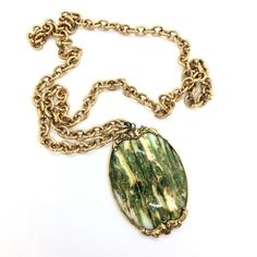 Green & White glass pendant with flecks of sparkly gold and green. Edwardian Fashion, Edwardian Style, Art Nouveau, Glass Pendants, Green And Gold, Necklace Lengths, Glass Art, Retro Vintage, Handmade Items