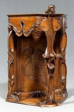 Art Nouveau Corner Cabinet