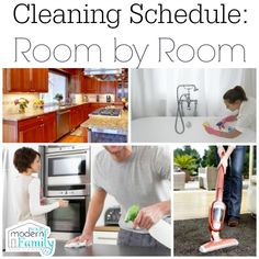 Cleaning Schedule - room by room, prioritized by importance | Your Modern Family