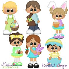 Easter Sweeties SVG Cutting Files + Clipart