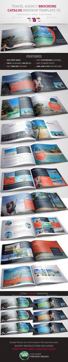 Travel Agency Brochure \/ Catalog Template Brochures, Catalog and - sample travel brochure