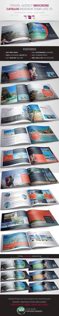 Travel Agency Brochure Catalog InDesign 2