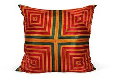 Loving this pillow made from a vintage sari.