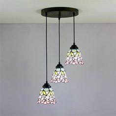 ペンダントライト ティファニーライト ステンドグラス照明器具 天井照明 3灯 1028-ST06156A