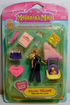 CAP TOYS 1996 MELANIE'S MALL BABYSITTER MELANIE DOLL MOSC SEALED RARE #CapToys #DollswithClothingAccessories