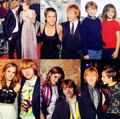 Emma and Rupert through the years