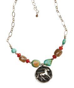 Look what I found on #zulily! Gemstone Unbroken Spirit Horse Pendant Necklace by Big Sky Silver #zulilyfinds