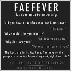 Faefever by Karen Marie Moning. Jericho Barrons. MacKayla Lane. #TheInstituteOfFeelings