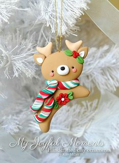 Christmas deer ornament on We Heart It