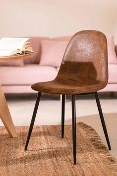 Glamm Leatherette Chair - SKLUM Vintage Space, Style Vintage, Royal Chair, Dining Chairs, Dining Table, Tubular Steel, Steel Bar, Walnut Wood, Rattan