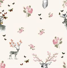 Pretty pattern for a girl's room