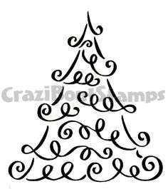 "Christmas tree - for canvas art. Maybe write in squiggles ""we wish you a merry Christmas"" instead of just squiggled lines."