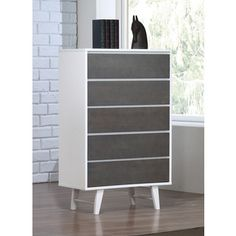 Madrid Light Charcoal 5-drawer Chest - Free Shipping Today - Overstock.com - 80005303 - Mobile
