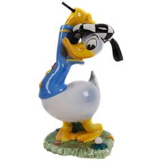 """""""Donald Duck Golfing,"""" a Ceramic Disney Figurine by Zaccagnini, Florence circa 1940 