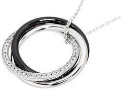カルティエ ネックレス トリニティ ドゥ カルティエ ダイヤモンド 0.19ct ブラックセラミック パラジウム K18WGホワイトゴールド Cartier ジュエリー ペンダント ダイアモンド