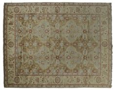 ASYA USHAK / TURKEY Item Number:24770 Width: 9 ft. 6 in. Length: 11 ft. 8 in. Field: ALL OVER PATTERN Field Color: BROWN Border Color: BEIG... (828)-687-1968 www.togarrugs.com
