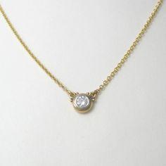 Double-Hung Diamond Solitare Pendant