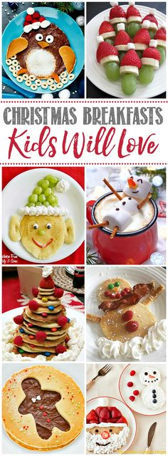 Lots of fun Christmas breakfast ideas that your kids will love! Great for any holiday brunch or breakfast celebration. Lots of fun Christmas breakfast ideas that your kids will love! Great for any holiday brunch or breakfast celebration. Christmas Snacks, Christmas Brunch, Xmas Food, Christmas Cooking, Christmas Goodies, Holiday Treats, Christmas Humor, Kids Christmas, Healthy Christmas Treats