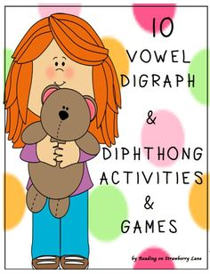 Vowel Digraph & Diphthong Syllables [10 Activities & Games] This packet of 10 activities and games give students a fun way to learn and sort vowel digraph and diphthong syllable words. The following activities and games are included in this packet: 1. Color the Rainbow 2. Ghost OUT 3. Move the Mouse to the Cheese 4. Guess the Word 5. Shark 6. Go Fish 7. PIG 8. Old Maid, Old Man 9. Skunk 10. Thirteen Digraph/Diphthong Booklets