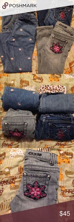 👖Bundle of 4 Pairs of Girl's Jeans SZ 6👖 1Guess - 2 Gymboree 1 GAP All Size 6 With No Flaws or Defects. All Look Fabulous!! FIRM - NO OFFERS! GAP Bottoms Jeans