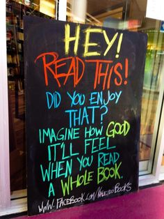 Cheeky book store sign!