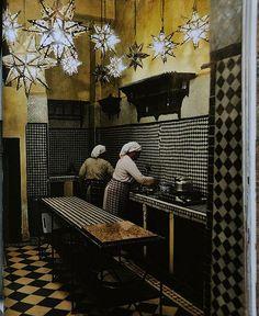 The kitchen in Franca Sozzani's Marrakech house, photographed by Ivan Terestchenko... #home #decor