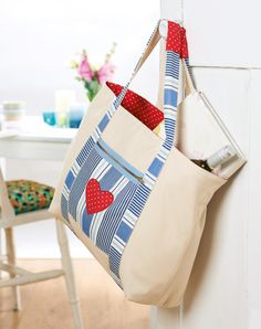 Stitch yourself a canvas tote to hit the shops in style
