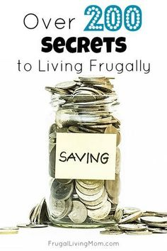 Great tips that help me save money and live my dreams. Follow these 200 tips and get on your way to living the life you really want! I especially like the ideas on how to make your paycheck last longer. #frugal Frugal Living Tips