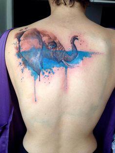 Victor Octaviano - Memórias - https://www.facebook.com/victoroctavianoo #watercolortattoo #watercolor #tattoo