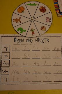 Writing center ideas: use spiner with sight words to make different sentences
