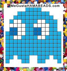 patrones hama beads pac-man inky