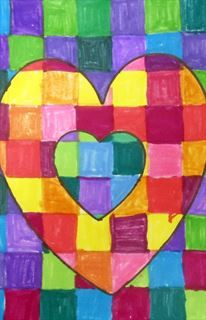 Check out student artwork posted to Artsonia from the Checkerboard Hearts project gallery at Rocky Ridge Elementary.