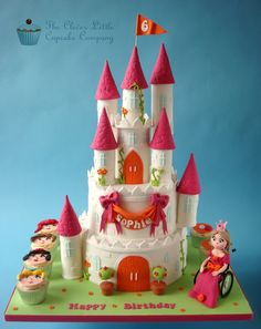 Princess Castle Cake   by The Clever Little Cupcake Company