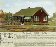 The Burbank  ALADDIN HOUSE PLANS FOR 1916