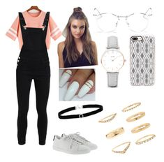 """Ootd 1.28.18 ♡"" by ariiikmk ❤ liked on Polyvore featuring Yves Saint Laurent, Ray-Ban, Casetify, CLUSE, Forever 21 and BillyTheTree"
